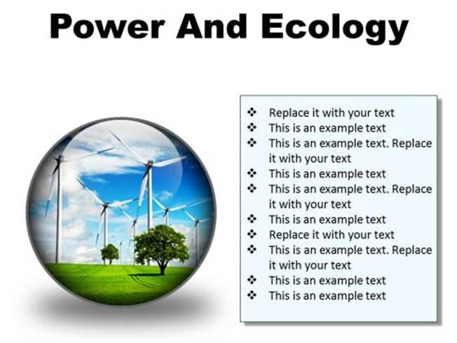 POWER AND ECOLOGY NATURE PRESENTATION SLIDES-PowerPoint Diagram
