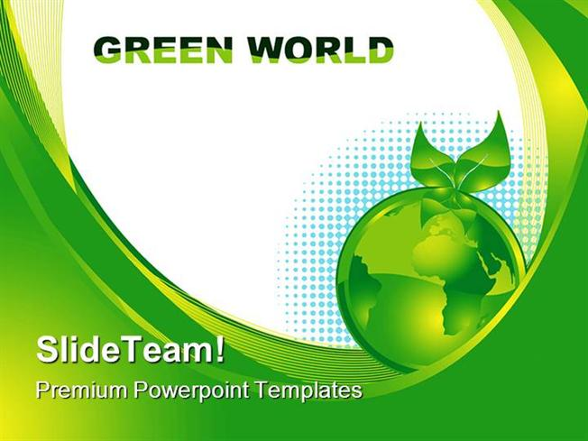 Green Earth Concept Environment Powerpoint Templates And Powerpoin