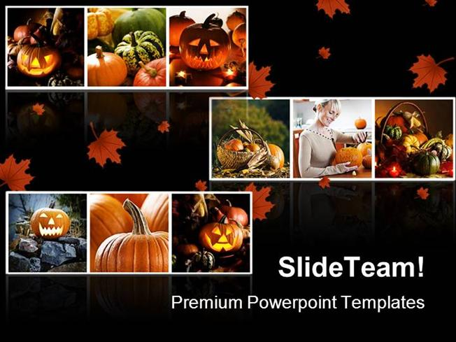 Halloween Collage Festival Powerpoint Templates And Powerpoint Bac