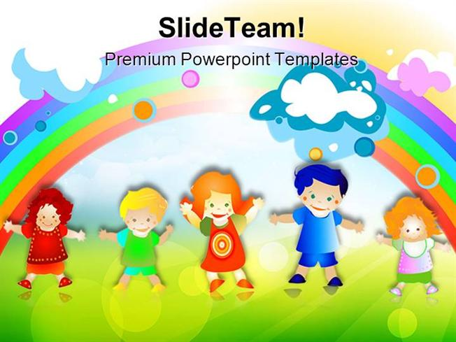 Happy Kids Children Powerpoint Templates And Powerpoint Background