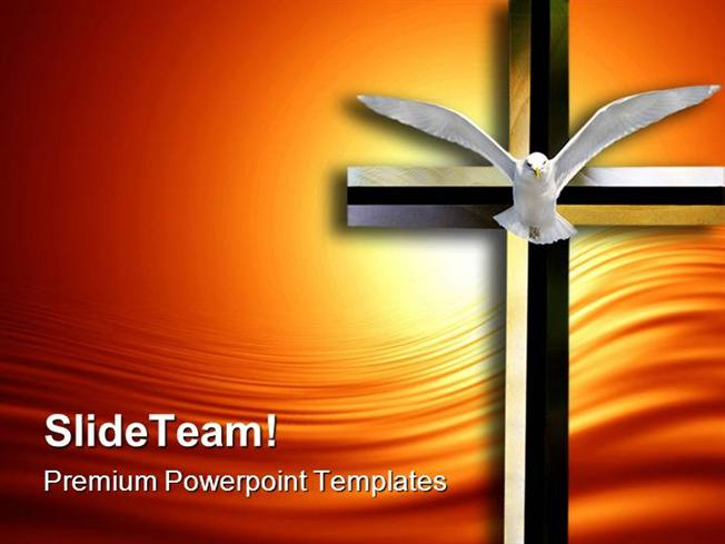 Holy Spirit Cross Religion Powerpoint Templates And Powerpoint Bac
