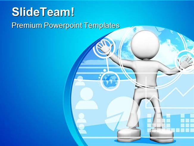 Information Technology Powerpoint Templates And Powerpoint Backgro