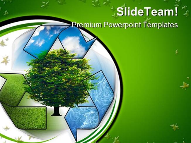 Recycle And Clean Environment Powerpoint Templates And Powerpoint - recycling powerpoint templates
