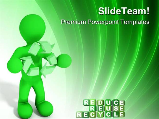 Reduce Recycle ReuseauthorSTREAM - recycling powerpoint templates