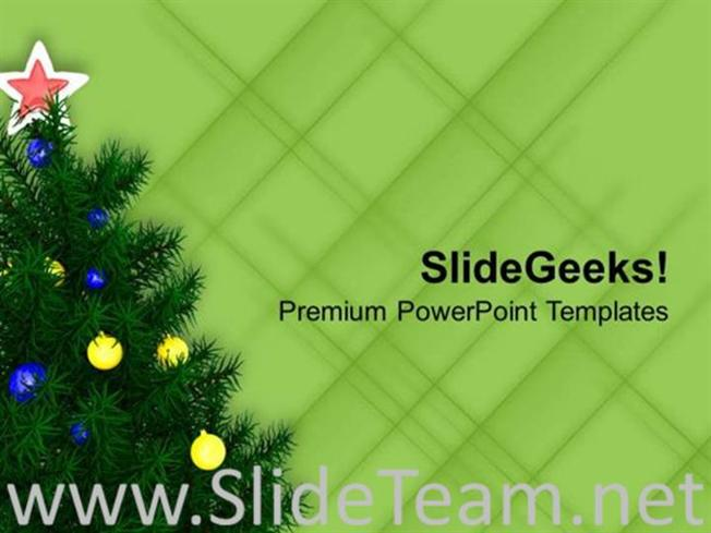 DECORATE CHRISTMAS TREE THIS WINTER POWERPOINT TEMPLATE-PowerPoint