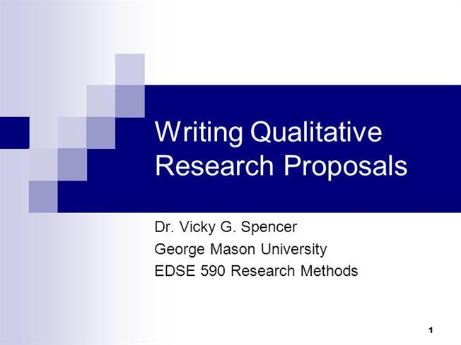 Writing Qualitative Research Proposals - for PresentationsauthorSTREAM