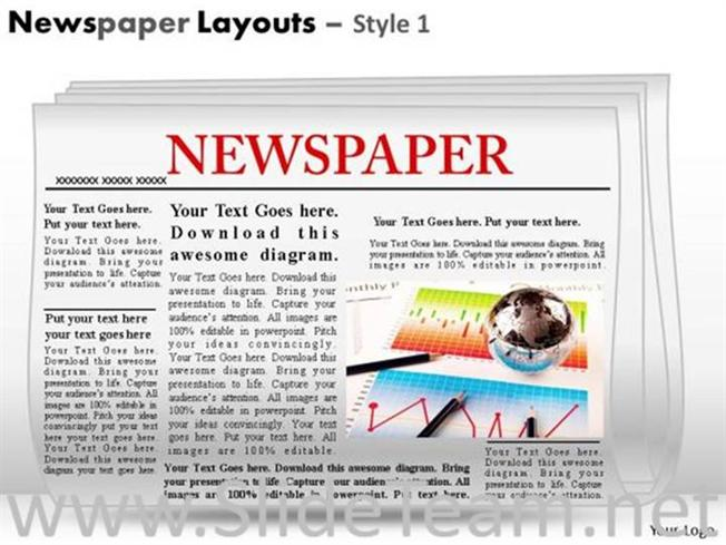 Editable Newspaper Headlines PPT Template-PowerPoint Diagram