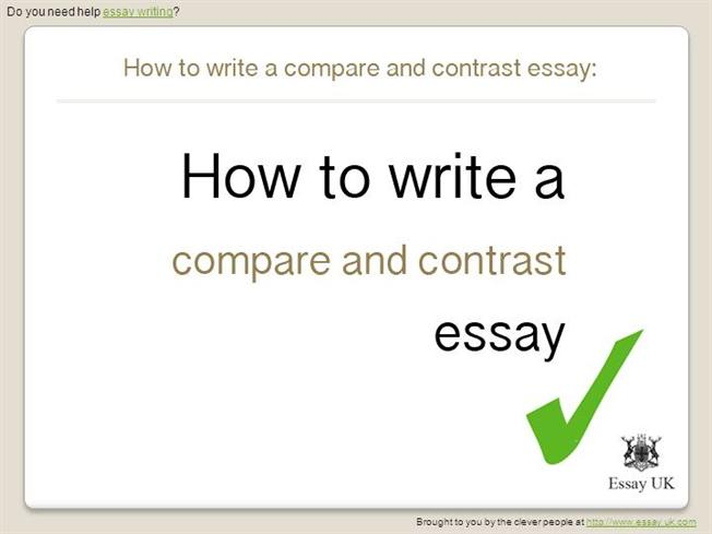 How to Write a Compare And Contrast Essay Essay WritingauthorSTREAM