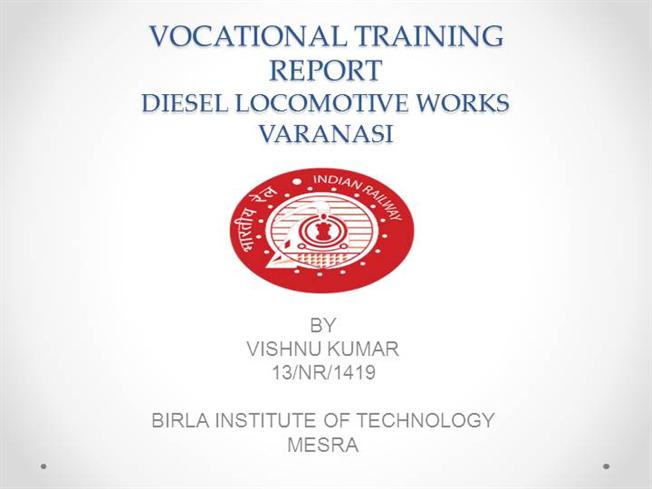 Vocational Training ReportauthorSTREAM - training report