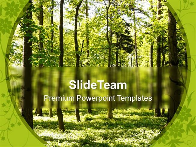 Forest Path Way Nature Powerpoint Templates PPT Themes And Graphic