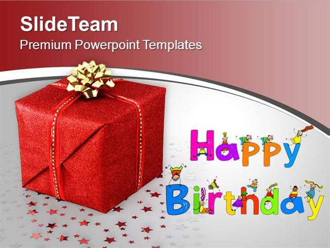 Happy Birthday Gift Celebration Powerpoint Templates PPT Themes An