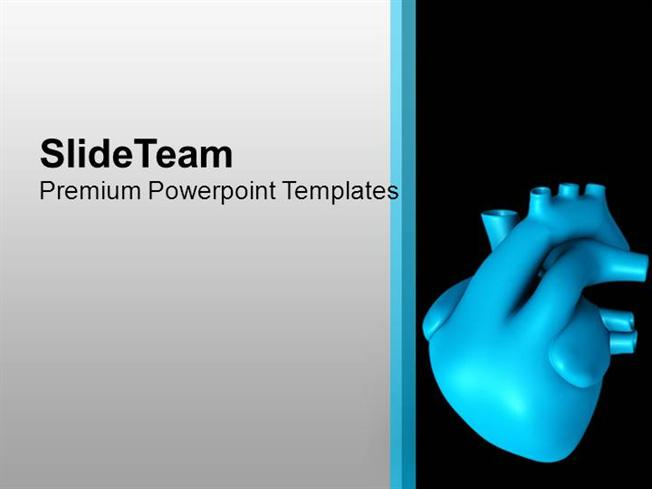 Background With 3D Human Heart Powerpoint Templates PPT Themes And