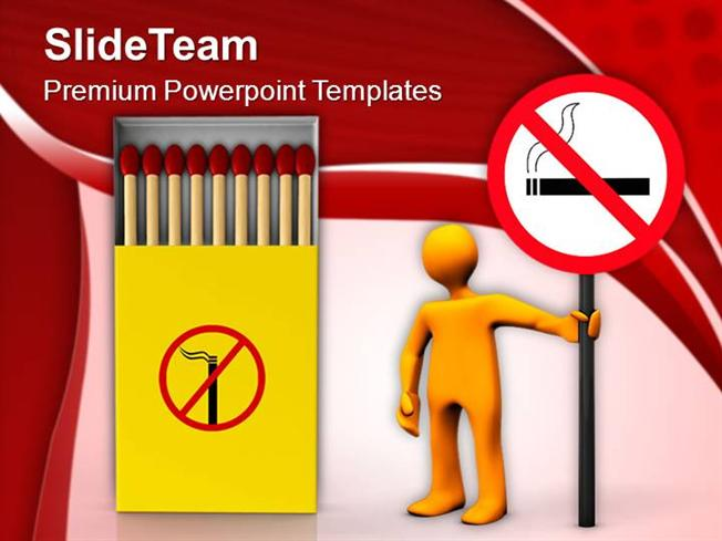 Cigarette Smoking Injurious to Health Powerpoint Templates PPT The