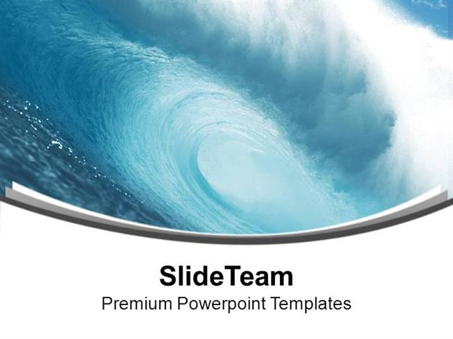 Abstract Background With Sea Wave Powerpoint Templates PPT Themes