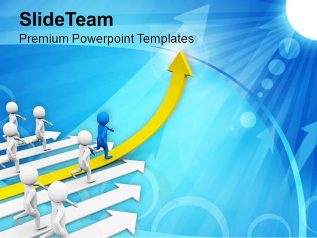 Leading a Team Goals And Achievement Powerpoint Templates PPT Them