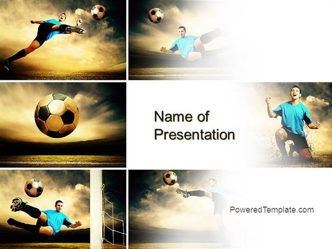 Soccer Collage Powerpoint Template by PoweredtemplateComauthorSTREAM
