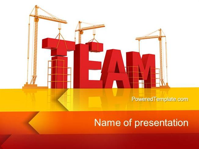 Team Building Under Construction Powerpoint TemplateauthorSTREAM
