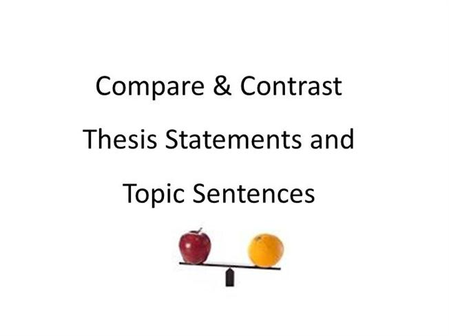 Compare-Contrast Essay Thesis  Topic Sentence ExamplesauthorSTREAM