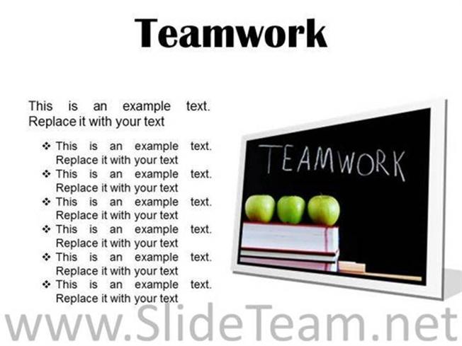TEAMWORK BUSINESS POWERPOINT PRESENTATION SLIDES F-PowerPoint Diagram - an example of teamwork