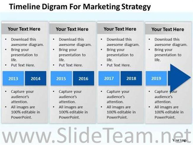 TIMELINE DIGRAM FOR MARKETING STRATEGY POWERPOINT SLIDES-PowerPoint - marketing plan template