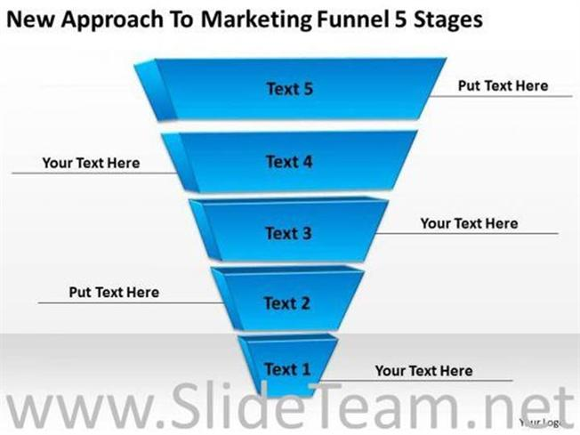 5 STAGES INVERTED PYRAMID FUNNEL POWERPOINT DIAGRAM-PowerPoint Diagram