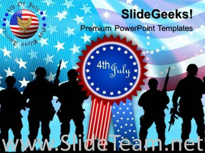 US ARMY INDEPENDENCE DAY 4TH JULY TEMPLATES AND POWERPOINT THEMES