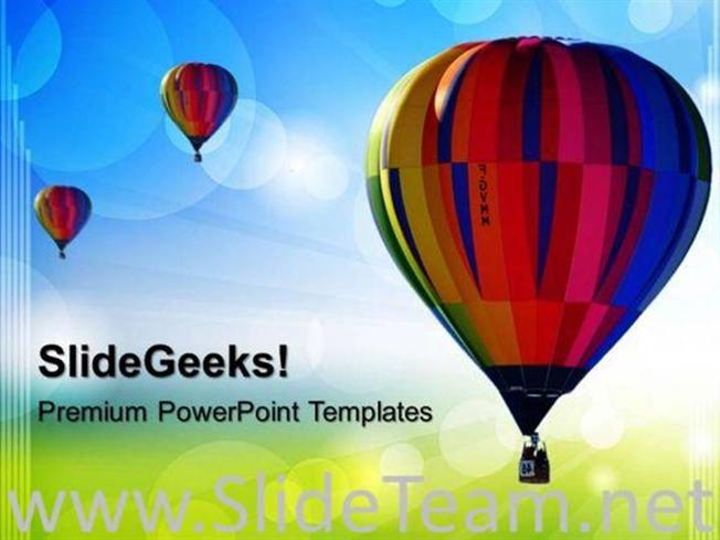 HOT AIR BALLON ABSTRACT POWERPOINT BACKGROUND-PowerPoint Template
