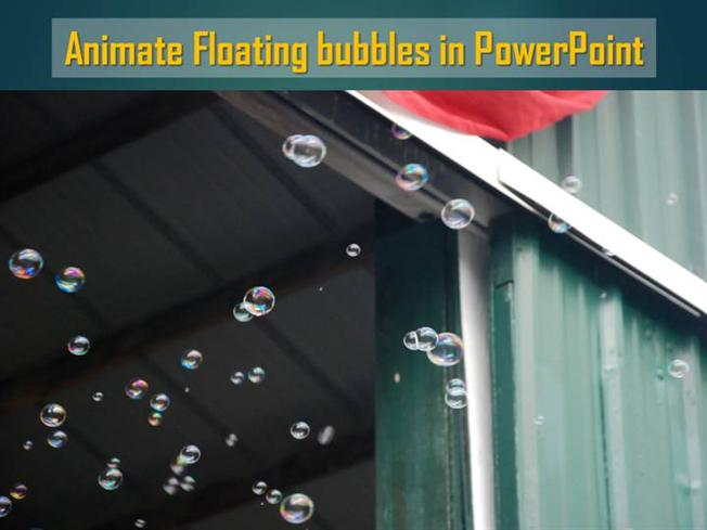 Animate Floating Bubbles in PowerpointauthorSTREAM