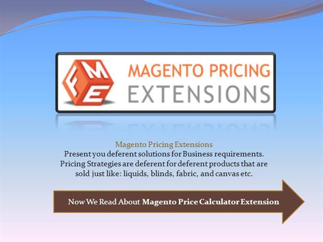 Magento Configurable Product PriceauthorSTREAM - product pricing calculator