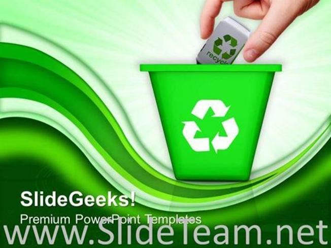 RECYCLE TRASH GREEN ENVIRONMENT POWERPOINT BACKGROUND-PowerPoint - recycling powerpoint templates