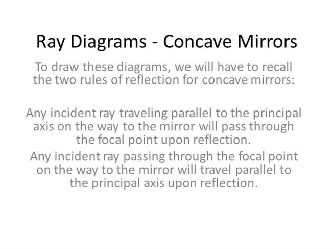 Ray Diagrams - Concave MirrorsauthorSTREAM