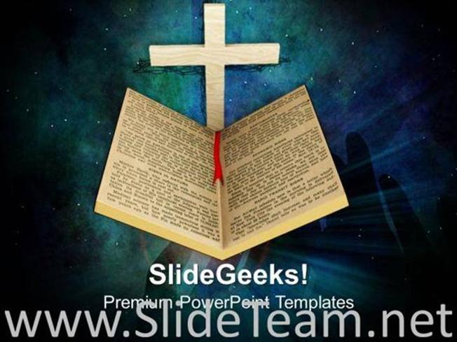 HOLY BIBLE AND CROSS RELIGION POWERPOINT TEMPLATE-PowerPoint Template