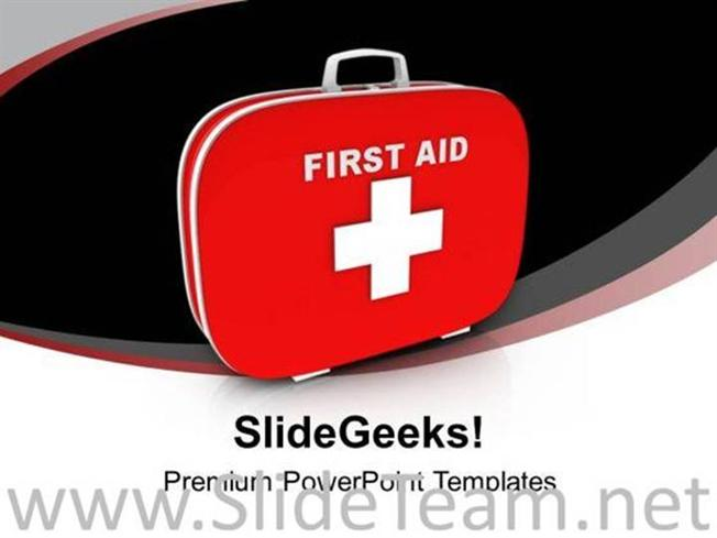FIRST AID AND SAFETY BOX POWERPOINT TEMPLATE-PowerPoint Template