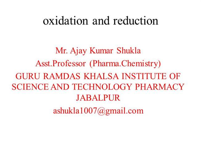 Oxidation And Reduction Titration Methods And Its Application in P