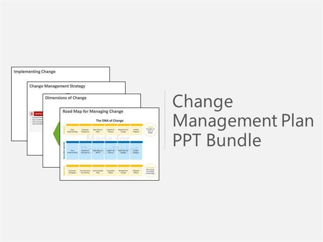 Change Management Plan Bundle Powerpoint PresentationauthorSTREAM - Change Management Plan