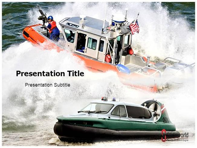 Navy Boat luxury-PowerPoint Template