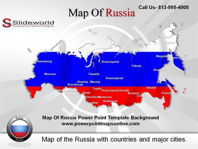 Map of Russia Powerpoint Template BackgroundauthorSTREAM