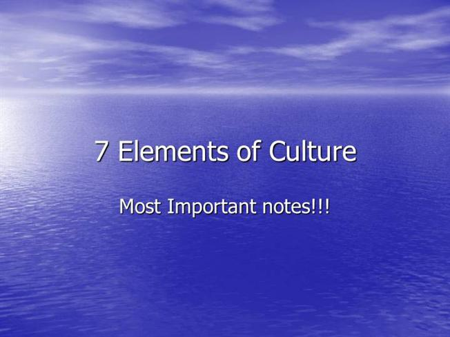7 Elements of CultureauthorSTREAM
