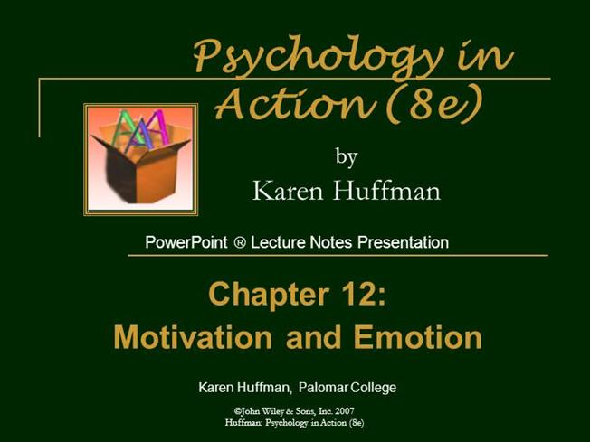 Chapter 12 Powerpoint General PsychologyauthorSTREAM