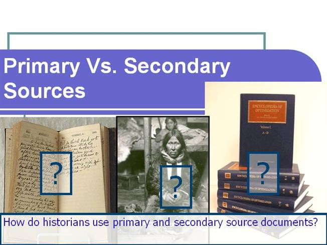 3-Primary Vs Secondary SourcesauthorSTREAM