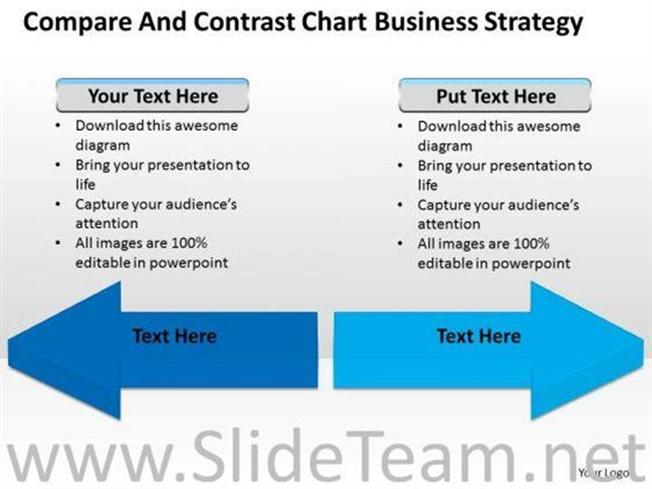 COMPARE AND CONTRAST CHART PPT SLIDES-PowerPoint Diagram
