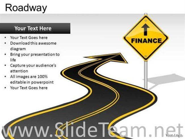 EDITABLE ROAD SIGNS POWERPOINT SLIDES-PowerPoint Diagram