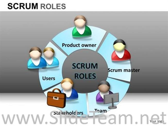 Scrum Roles Stakeholder PPT Image-PowerPoint Diagram