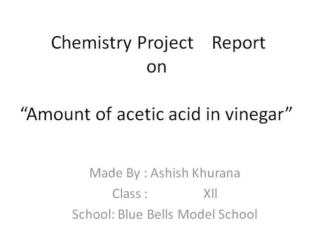 Chemistry Project ReportauthorSTREAM - project report