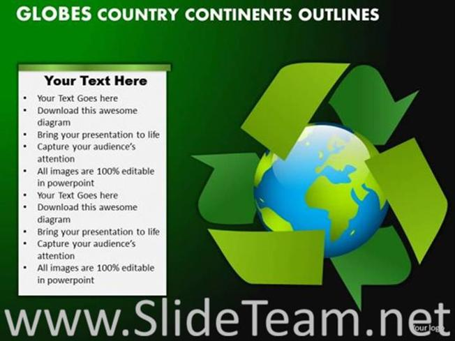 Make Recycling Of All Product To Save Earth-PowerPoint Diagram - recycling powerpoint templates