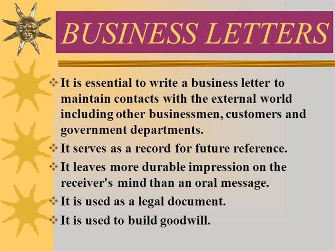 Business LettersauthorSTREAM