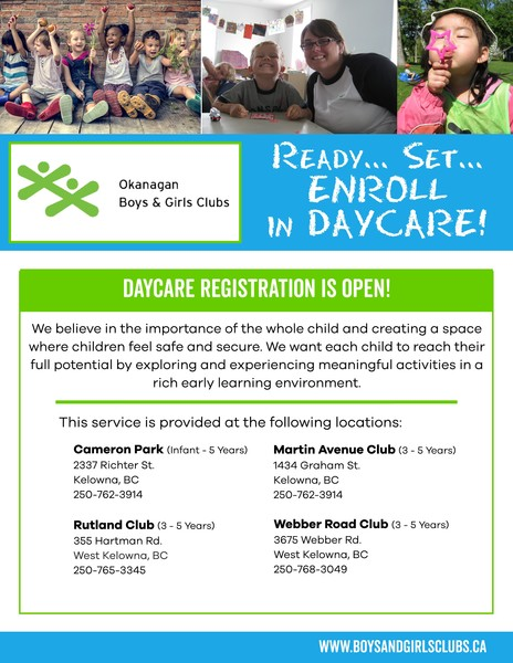 Daycare OPENINGS - Castanet Classifieds