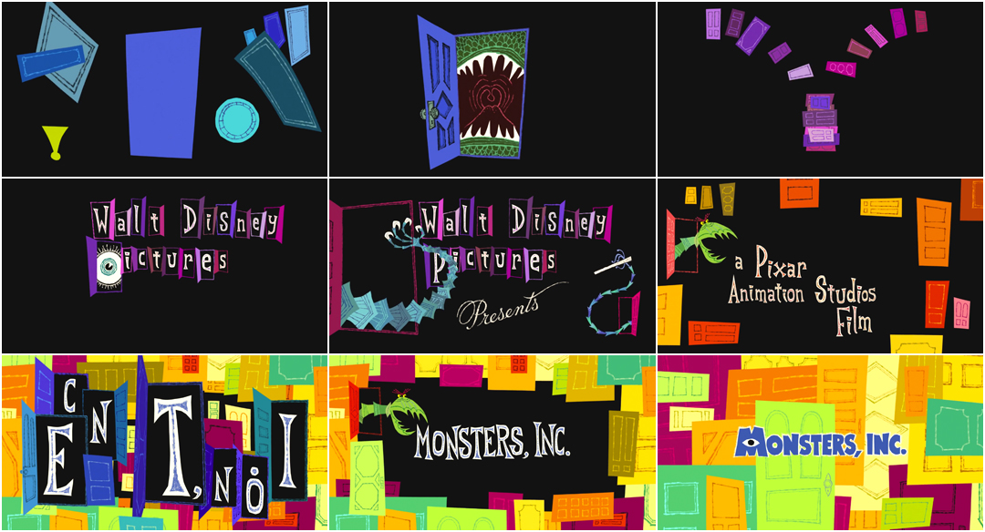 Monsters, Inc (2001) \u2014 Art of the Title - animation title