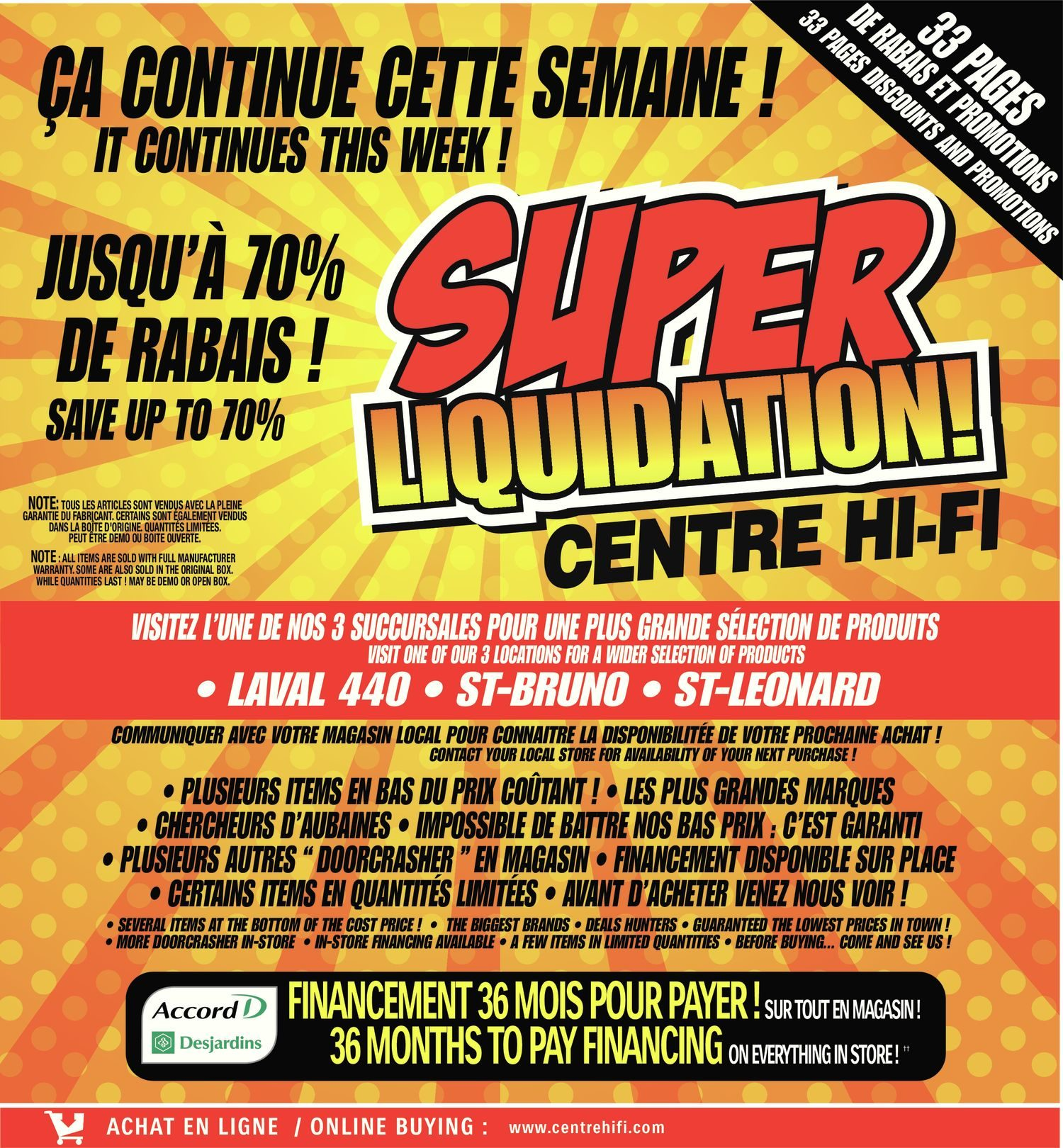 Store A Rabais Centre Hifi Weekly Flyer Weekly Super Liquidation Feb 8