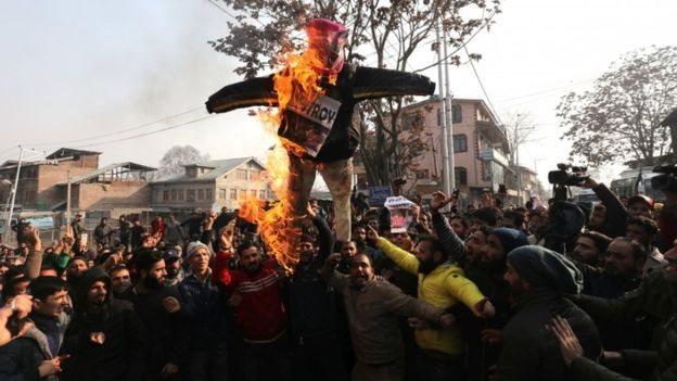 احتجاجات حاشدة ضد اعتراف ترامب بالقدس عاصمة لإسرائيل